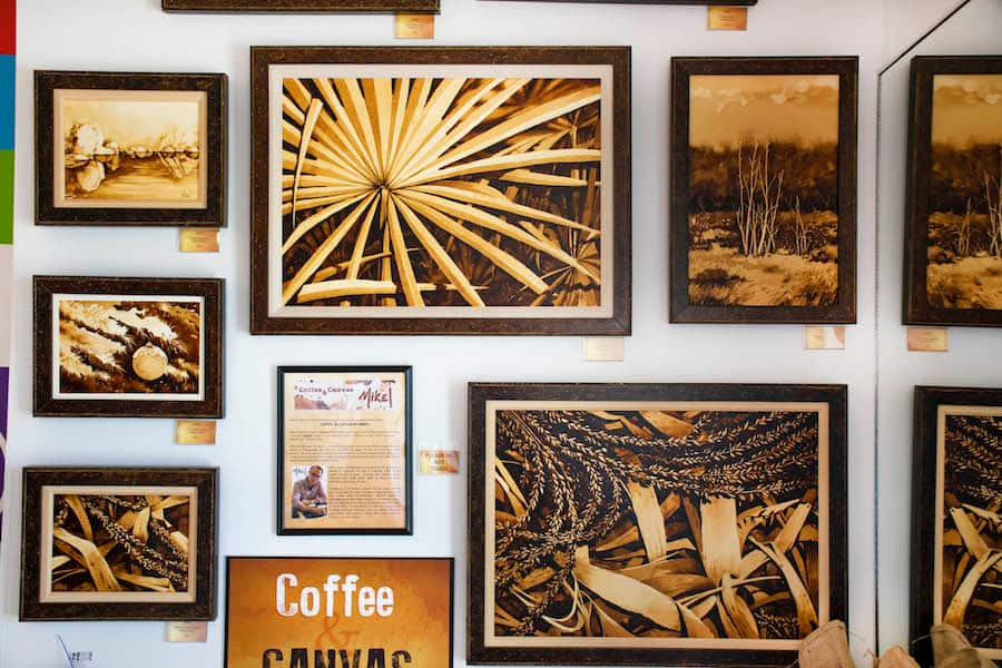 unique 'Coffee & Canvas' piece at Disney Springs