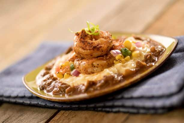 Spicy Blackened Shrimp and Cheddar Cheese Grits from Florida Fresh at the 2019 Epcot International Flower & Garden Festival