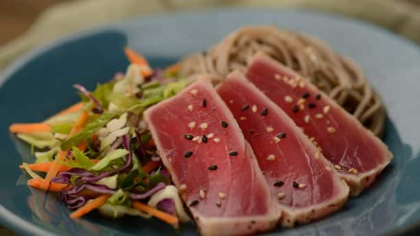 Chilled Soba Noodle Salad from Hanami at the 2019 Epcot International Flower & Garden Festival