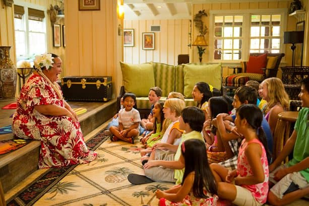 "Kids sharing in the aloha of Valentine's Day at ""Celebrate Aloha at Aunty's Beach House"""