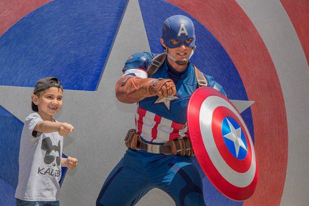 Captain America, at Hollywood Land, Disney California Adventure park