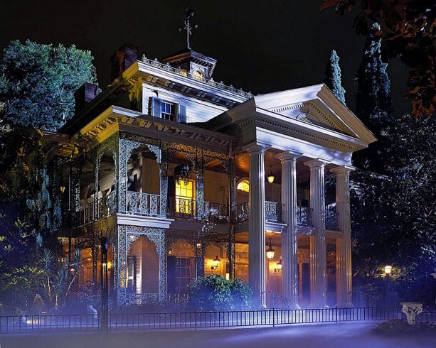 Haunted Mansion ride at Disneyland park