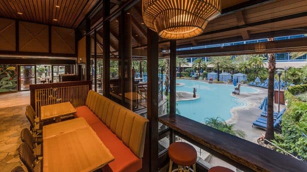 Interior of Tangaroa Terrace, Disneyland Hotel