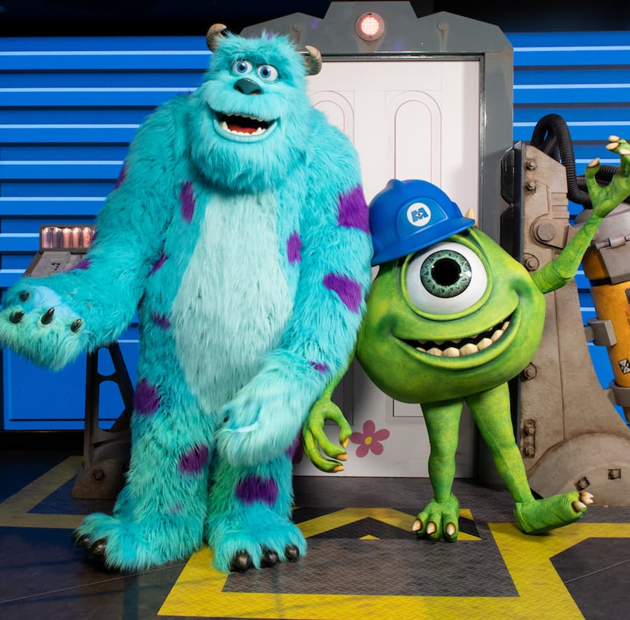 Meet Mike Wazowski and James P. Sullivan at Walt Disney Presents Attraction
