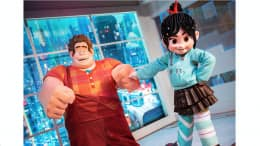 Ralph and Vanellope at Epcot