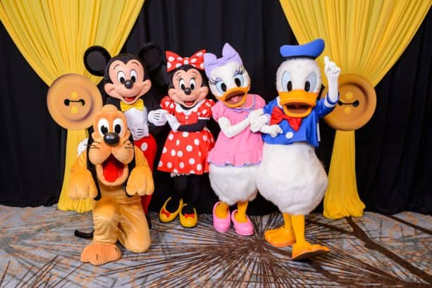 Mickey Mouse, Minnie Mouse, Pluto, Donald Duck and Daisy Duck