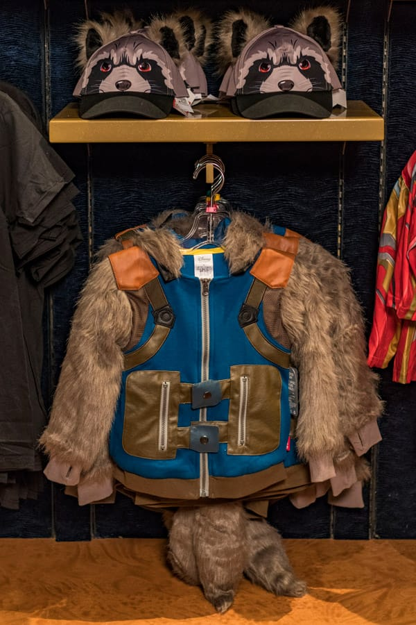 Rocket Racoon outfit available during Marvel Day at Sea