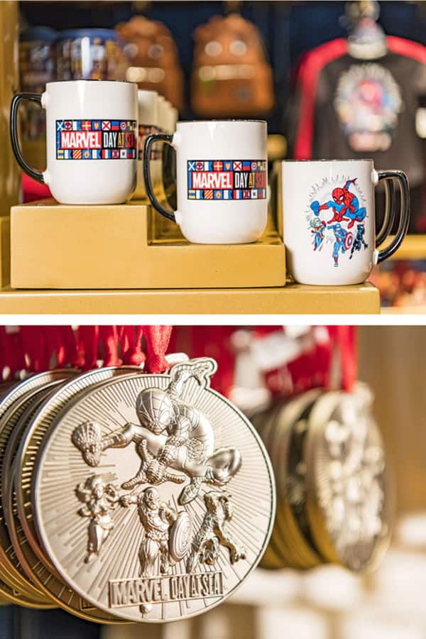 Spider Man Marvel Day at Sea merchandise