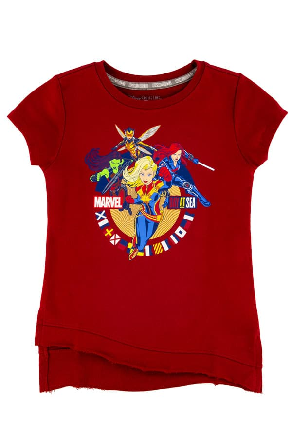 Captain Marvel t-shirt only available aboard the Disney Magic during Marvel Day at Sea cruises