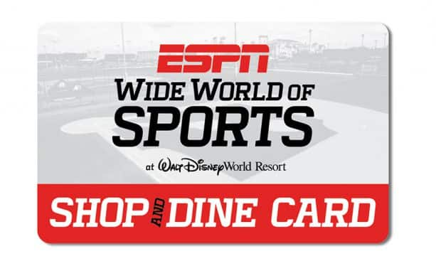 ESPN Wide World of Sports Shop & Dine Card