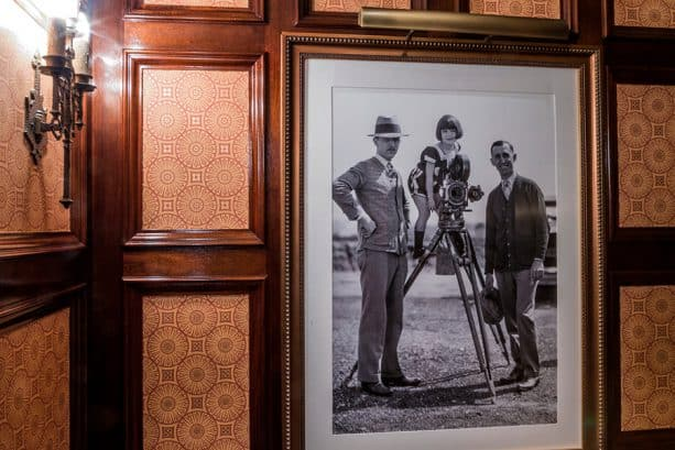 Photo of Walt and Roy Disney with Margie Gay