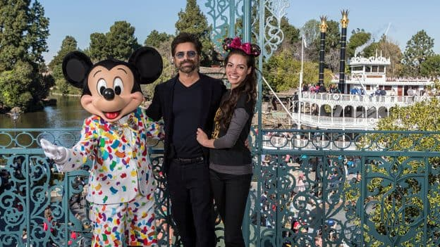 Actor John Stamos and Wife Caitlin Celebrate First Anniversary at Disneyland Park