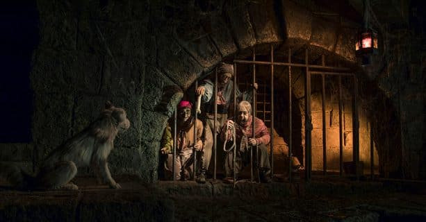 Pirates of the Caribbean ride at Disneyland park