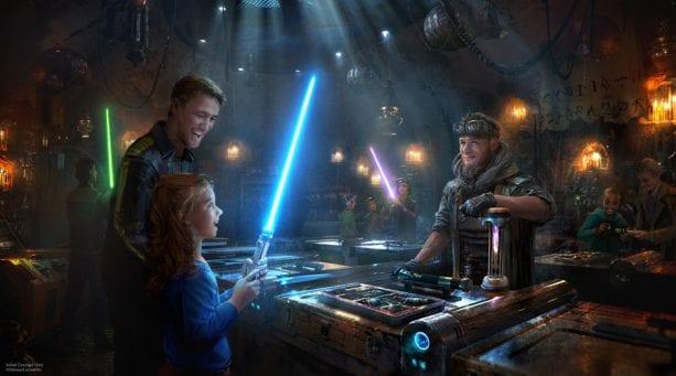 El taller de Savi en Star Wars: Galaxy's Edge