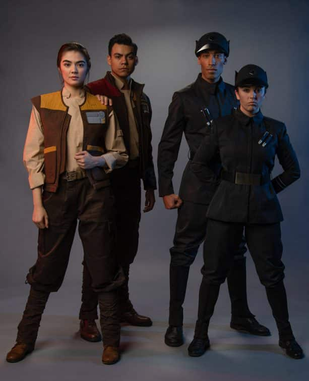 Cast member costumes in Star Wars: Galaxy's Edge - The Resistance and The First Order