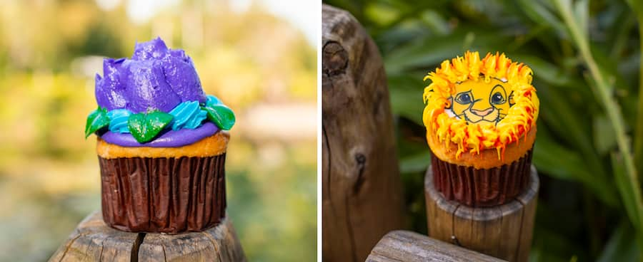 Lotus and Simba Cupcakes at Disney's Animal Kingdom