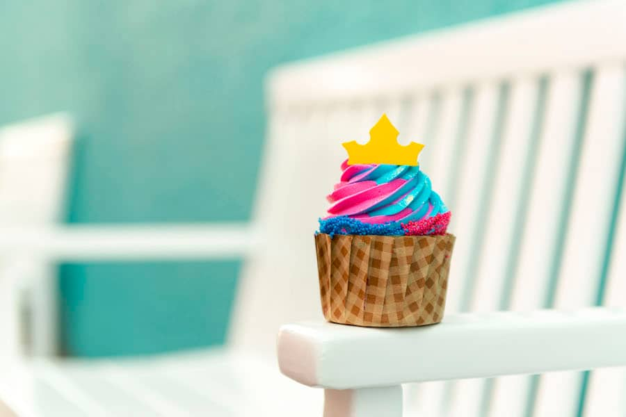 Aurora Cupcake at Intermission Food Court at Disney's All-Star Music Resort