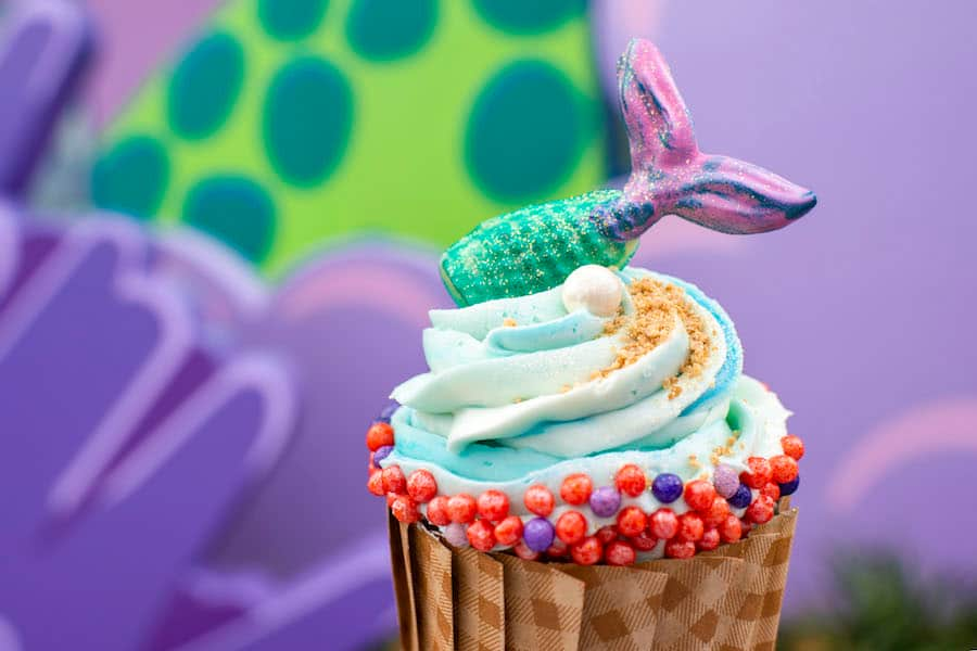 Mermaid Cupcake at Landscape of Flavors at Disney's Art of Animation Resort