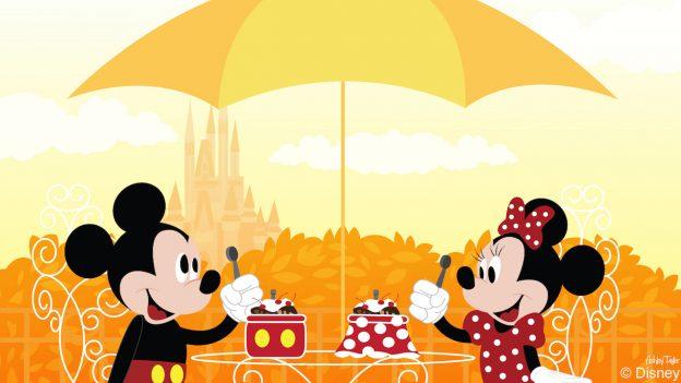 Mickey & Minnie Enjoy Ice Cream Treats