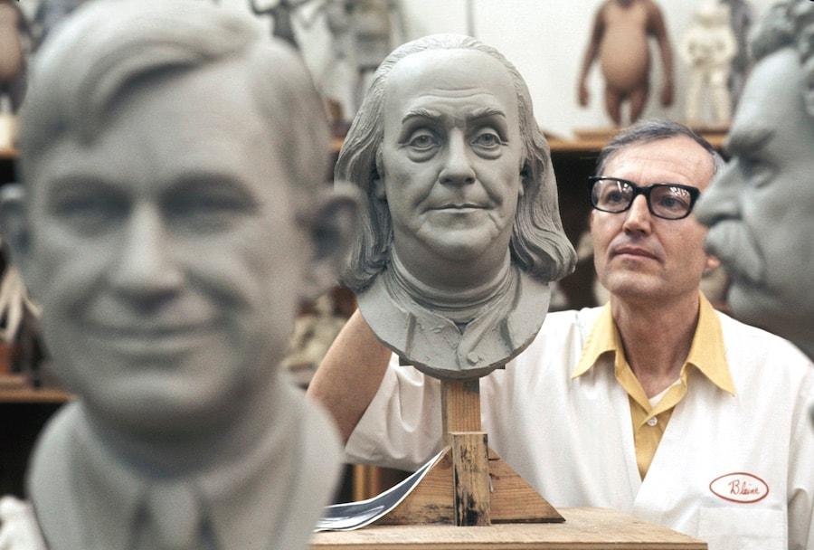 Blaine Gibson at work in the Imagineering Sculpture Studio. © Disney
