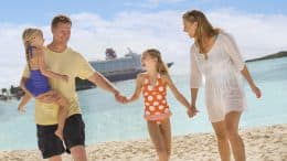 Family on Disney's Castaway Cay