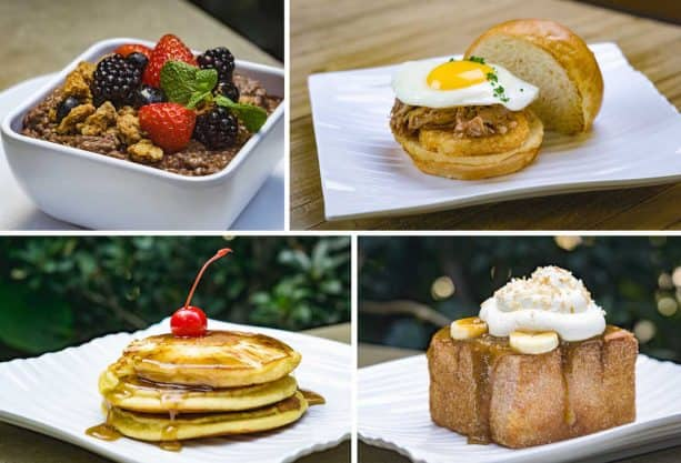 Breakfast Items at Tangaroa Terrace Tropical Bar & Grill at the Disneyland Hotel