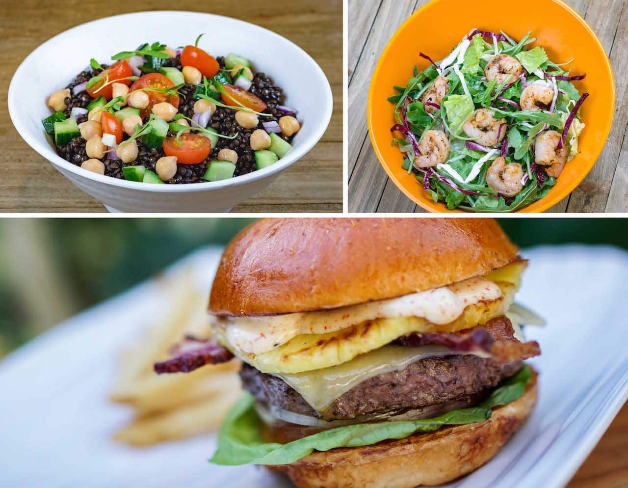 Lunch and Dinner Items at Tangaroa Terrace Tropical Bar & Grill at the Disneyland Hotel