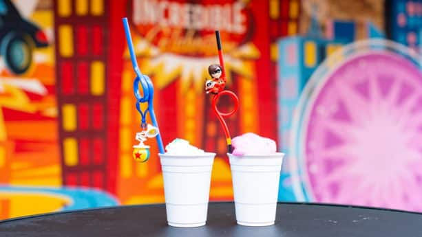 Specialty Drinks and Novelty Straws from Neighborhood Bakery at Disney's Hollywood Studios