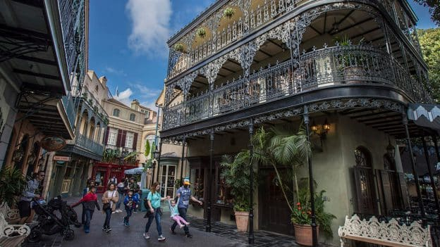 Royal Street in New Orleans Square at Disneyland park