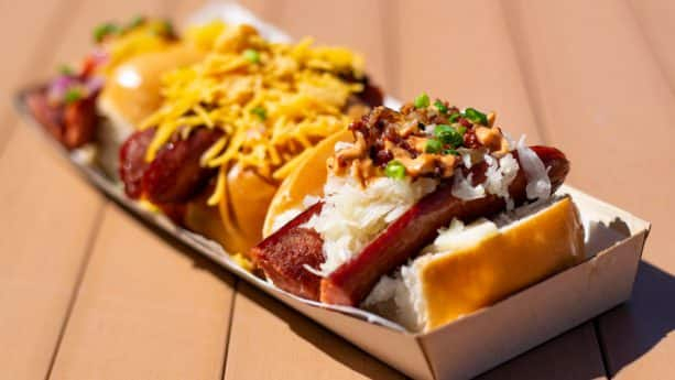 Three Little Pigs Hot Dog Sampler from B.B. Wolf's Sausage Co. at Disney Springs