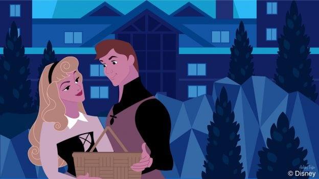 Princess Aurora & Prince Phillip Reconnect at Disney's Wilderness Lodge
