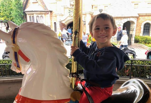 Jennifer's son on King Arthur Carousel