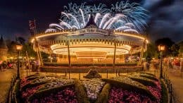Disney Parks After Dark: 'Mickey's Mixed Magic' over King Arthur Carrousel at Disneyland Park