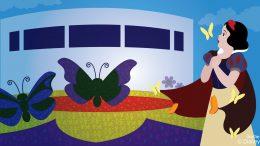 Snow White Enjoys The Epcot International Flower & Garden Festival