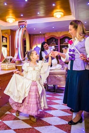 Rapunzel Makeover at Bibbidi Bobbidi Boutique Aboard Disney Ships