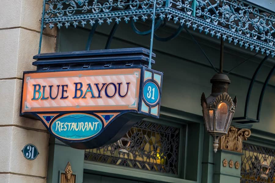 Blue Bayou in New Orleans Square at Disneyland park