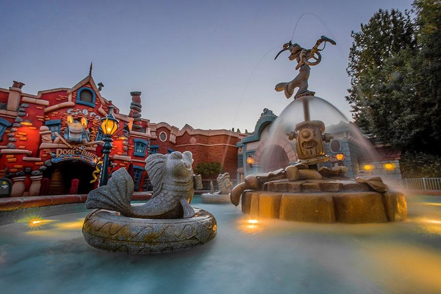 Fountain in Mickey's Toontown, Disneyland park