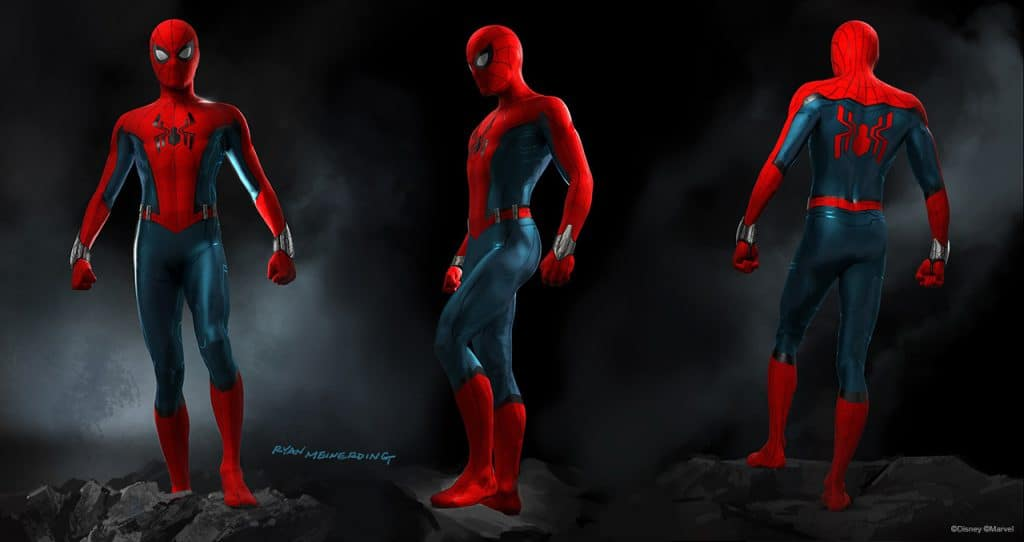Spider-Man's suit for the new Marvel themed land