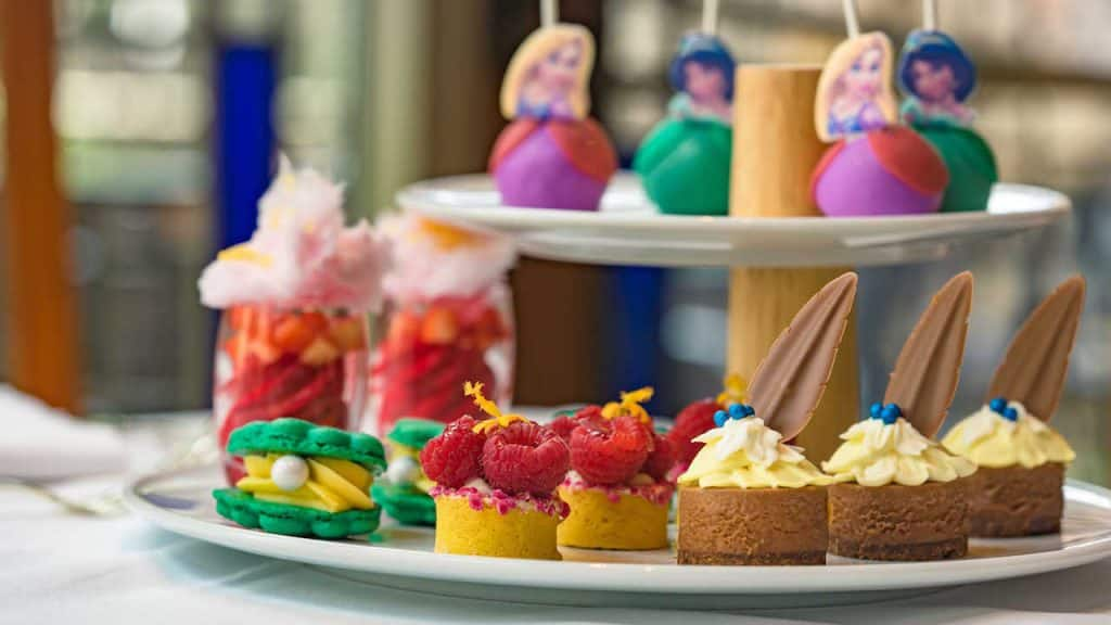 Assorted Desserts from Disney Princess Breakfast Adventures at Napa Rose at Disney's Grand Californian Hotel & Spa