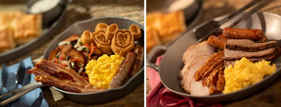 Heritage Skillet and Carnivore Skillet from Whispering Canyon at Disney's Wilderness Lodge
