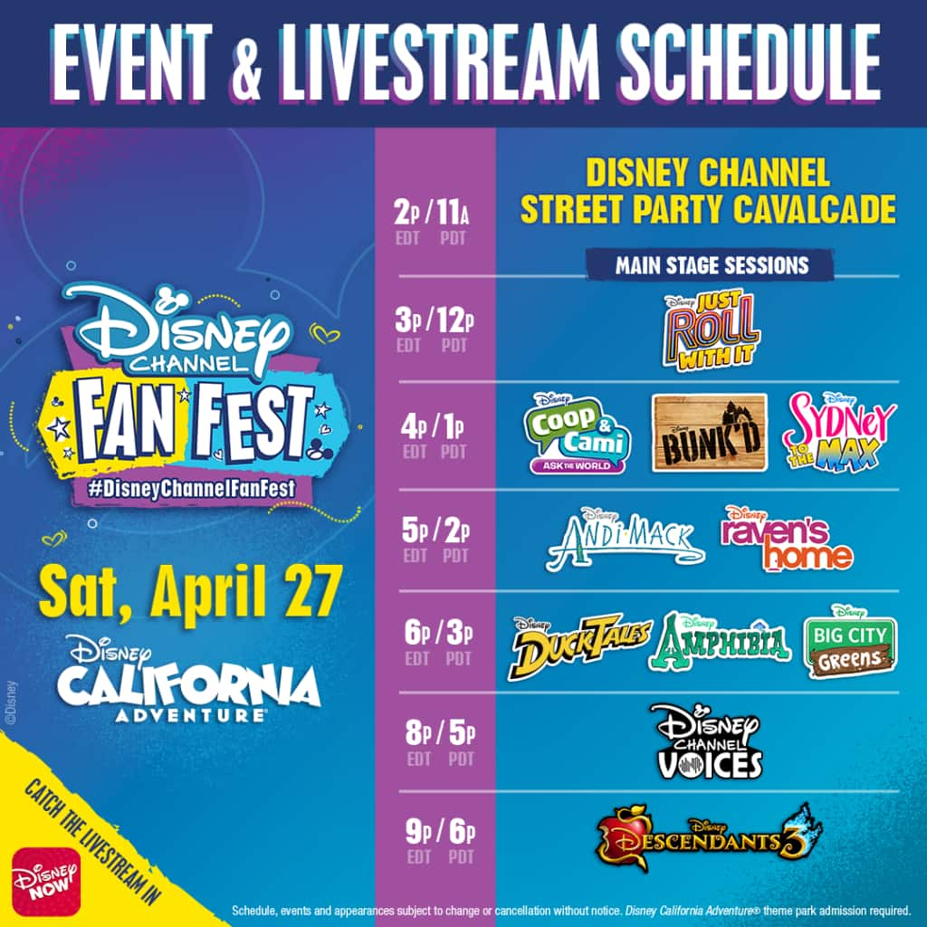 Watch the DisneyNOW Live Stream of Disney Channel Fan Fest TODAY!