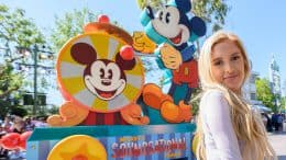 merican Idol Top 10 contestant, Laci Kaye Booth, enjoys Mickey's Soundsational Parade in Disneyland Park at the Disneyland Resort