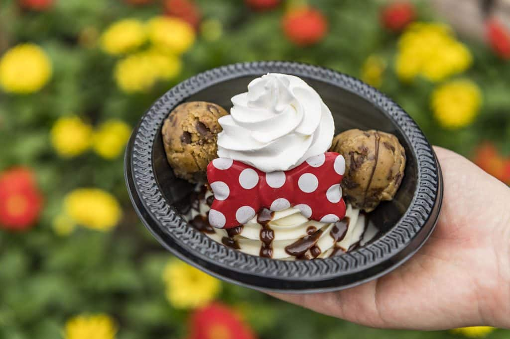 Minnie's Cookie Dough Sundae from Storybook Treats at Magic Kingdom Park