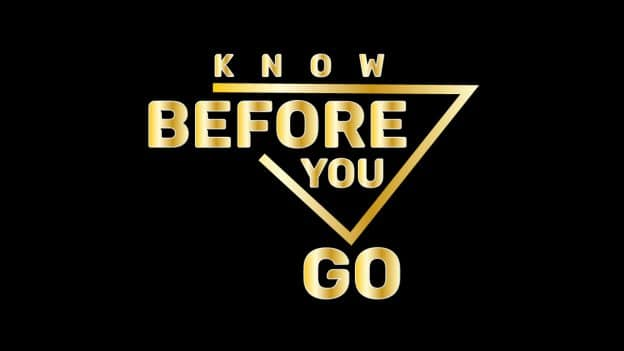 Know Before You Go logo
