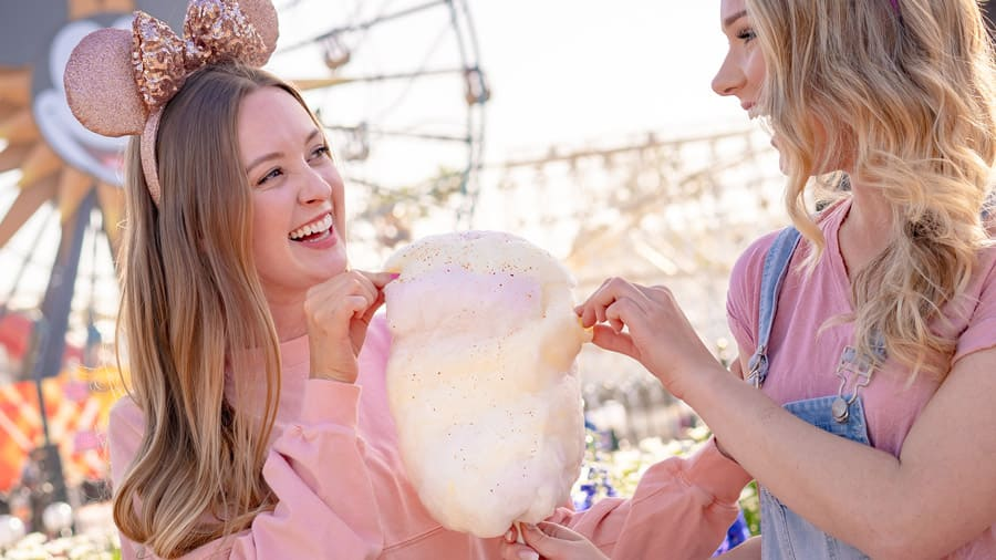 Pineapple-Jalapeño Cotton Candy from the Disney California Adventure Food & Wine Festival