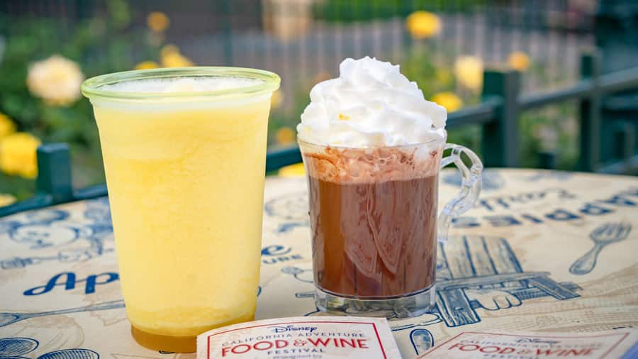 Pacific Sunrise and Hot Chocolate from the Disney California Adventure Food & Wine Festival