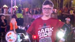 "11-year-old Daniel ""DJ'' Roberts at the 2019 Star Wars Rival Run 5K"