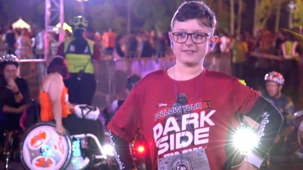 "11-year-old Daniel ""DJ'' Roberts at the 2019 Star Wars Rival Run 5K"