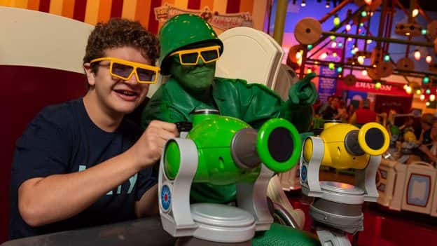 Actor Gaten Matarazzo Plays Big Inside Toy Story Land at Disney's Hollywood Studios