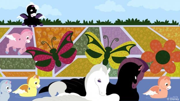 Disney Doodle: Pegasus Explores The Epcot International Flower & Garden Festival